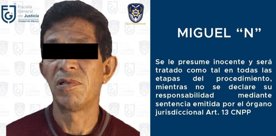 Detienen a Miguel Parada, presunto violador serial de CDMX