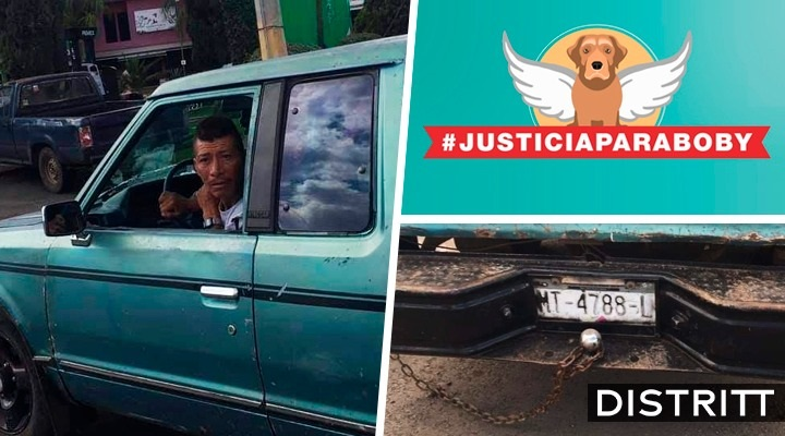 Justicia para Boby. Hombre arrastra a perro en Michoacán