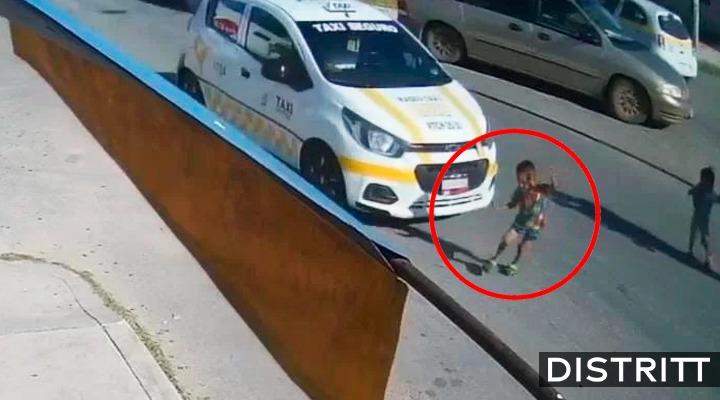 Quintana Roo. Taxista atropella a niño en Chetumal  VIDEO