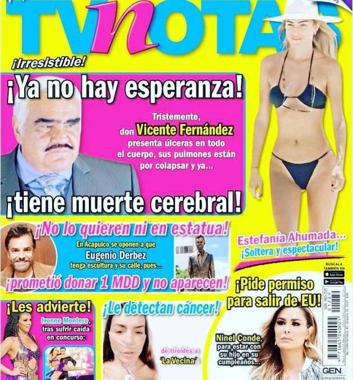 Aseguran que Vicente Fernández sí tiene muerte cerebral